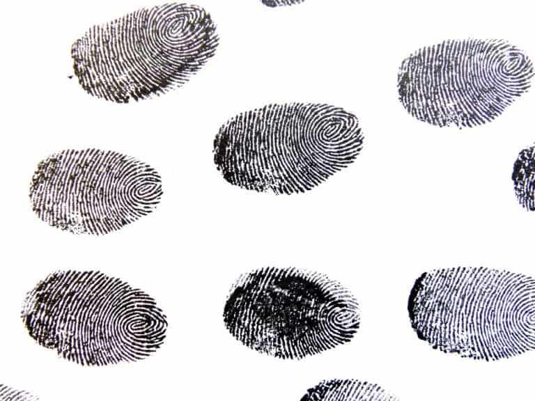 Verschieden Fingerabdrücke