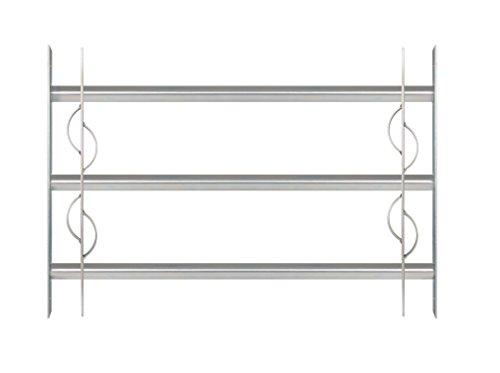 GAH-Alberts 563622 Fenstergitter Secorino Style | Ausziehbar für Fenster außen | Einbruchschutz Gitter | galvanisch blau verzinkt | 450 x 700-1050 mm