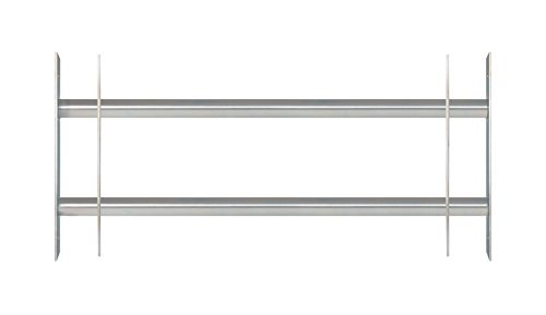 GAH-Alberts 563684 Fenstergitter Secorino Basic | Ausziehbar für Fenster außen | Einbruchschutz Gitter | galvanisch blau verzinkt | 300 x 700-1050 mm