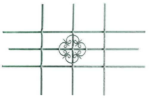 GAH-Alberts 553548 Fenstergitter Salzburg | Fenster-Gitter für außen als Einbruchschutz | feuerverzinkt | 1140 x 690 mm | kürzbar bis 590 x 390 mm