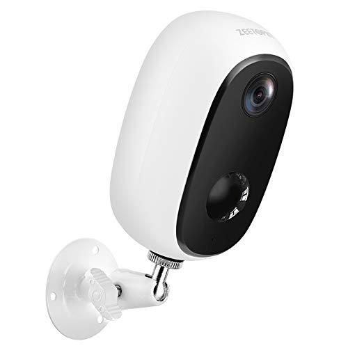 Zeetopin Überwachungskamera Aussen Akku,1080P Kabellose Outdoor WLAN IP Kamera,PIR-Bewegungserkennung,2-Wege-Audio,15M Nachtsicht,IP65 wasserdicht,Cloud/SD Storage