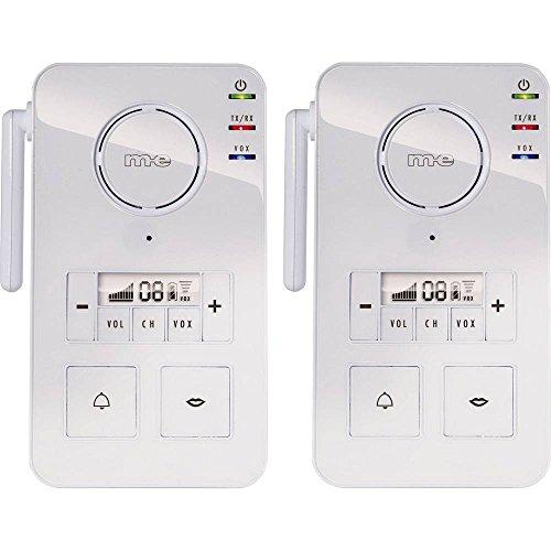 m-e modern-electronics FS 2.1 Gegensprechanlage Funk 446 MHz 2000 m Weiß