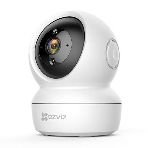 EZVIZ 1080P WLAN IP Kamera, schwenkbare Überwachungskamera Innen mit Zwei-Wege-Audio, Bewegungserfolgung, IR Nachtsicht für Haustier, Hunde, Babyphone kompatibel mit Alexa, C6N
