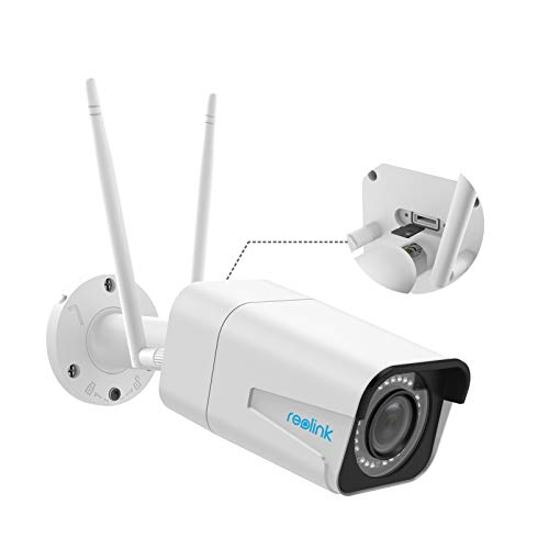 Reolink 5MP Kabellose WLAN Überwachungskamera Aussen mit Spotlights, Farbiger Nachtsicht, Personen-/Fahrzeugerkennung, 2,4/5 GHz WiFi IP Kamera Outdoor, 5X Optischer Zoom, Zwei-Wege-Audio, RLC-511WA