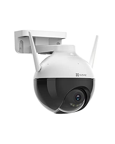 EZVIZ Überwachungskamera, 1080p WLAN IP PT Kamera mit KI-Personenerkennung, 30 Meter Farbnachtsicht, FHD Sicherheitskamera für den Außenbereich,schewenk- / Neigung und SD Kartenslot verfügbar, C8C